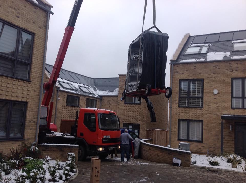 Crane Lift commences